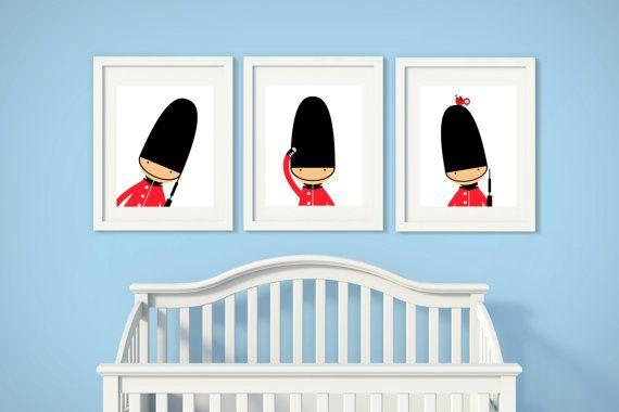 Nursery Art Toy Soldiers Nursery Print English Guards by HopAndPop