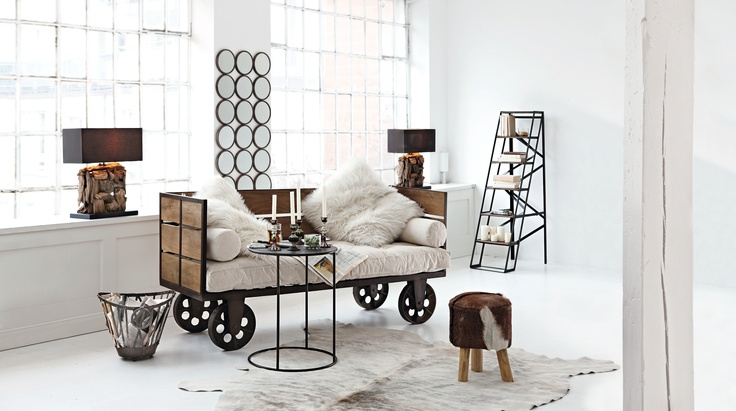 90 besten wohnen im industriestil bilder auf pinterest wohnen dachboden und lofts. Black Bedroom Furniture Sets. Home Design Ideas