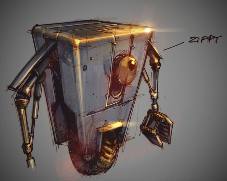 Claptrap - Borderlands 2 Concept Art