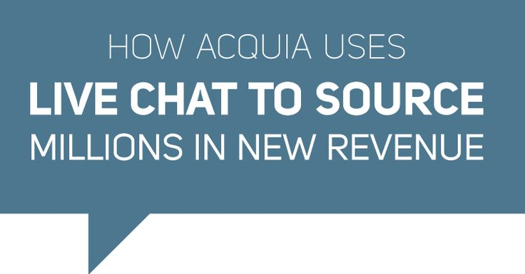 Tom Murdock, Head of Worldwide Inside Sales at Acquia shares how and why his team at Acquia uses Live Chat to source millions of dollars in new revenue.
