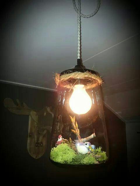 Lamp van augurkenpot