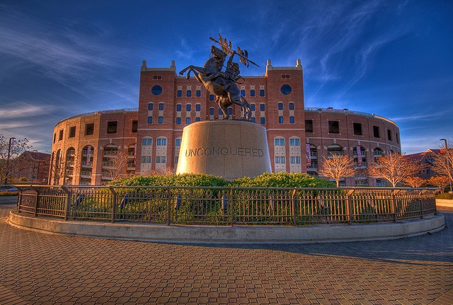 Unconquered Statue in Winter Light HDR by Scott S. Baxter, via Flickr