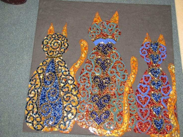 cats now grouted by kat gottke - Fantastisch Mosaik Flie