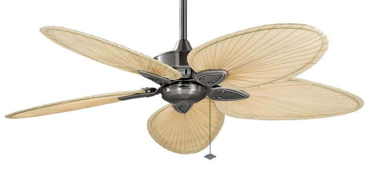 The Islander ceiling fan is one of Fanimation's classic designs that have withstood the test of time. For over thirty years, the natural elegance and versatility of this tropically inspired ceiling fan have contributed to its undiminished popularity. Picture here in Pewter with Narrow Natural Palm Blades.