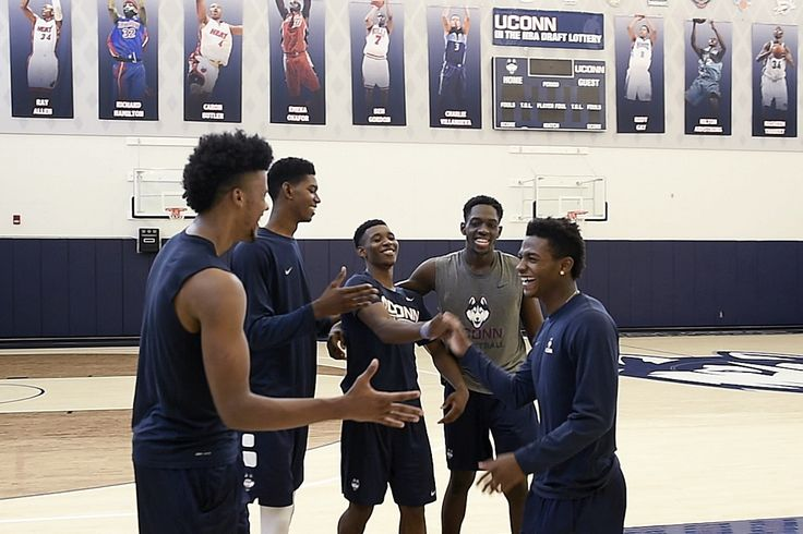 The UConn men's basketball team gets to work Saturday, and hard work it figures to be.