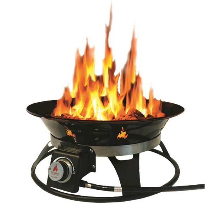 Outland Firebowl Cypress 21 in. Steel Portable Propane ... on Outland Living Cypress Fire Pit id=99595