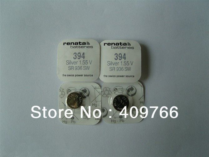 Рената швейцарский аккумулятор SR936SW 394 1.55 В для серебряные часы SR936SW 394 рената часы аккумулятор