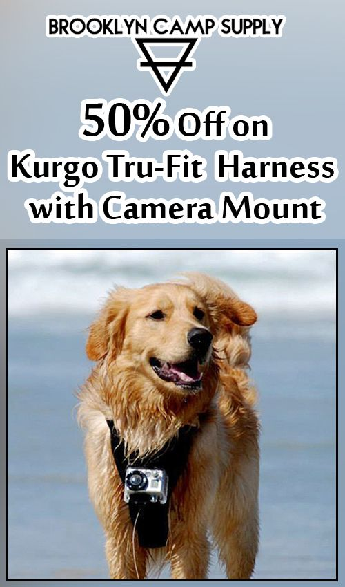 At Brooklyn Camp Supply, they are offering 50% discount on Kurgo Tru-Fit Harness with Camera Mount. For more Brooklyn Camp Supply Coupon Codes visit: http://www.couponcutcode.com/stores/brooklyn_camp_supply/
