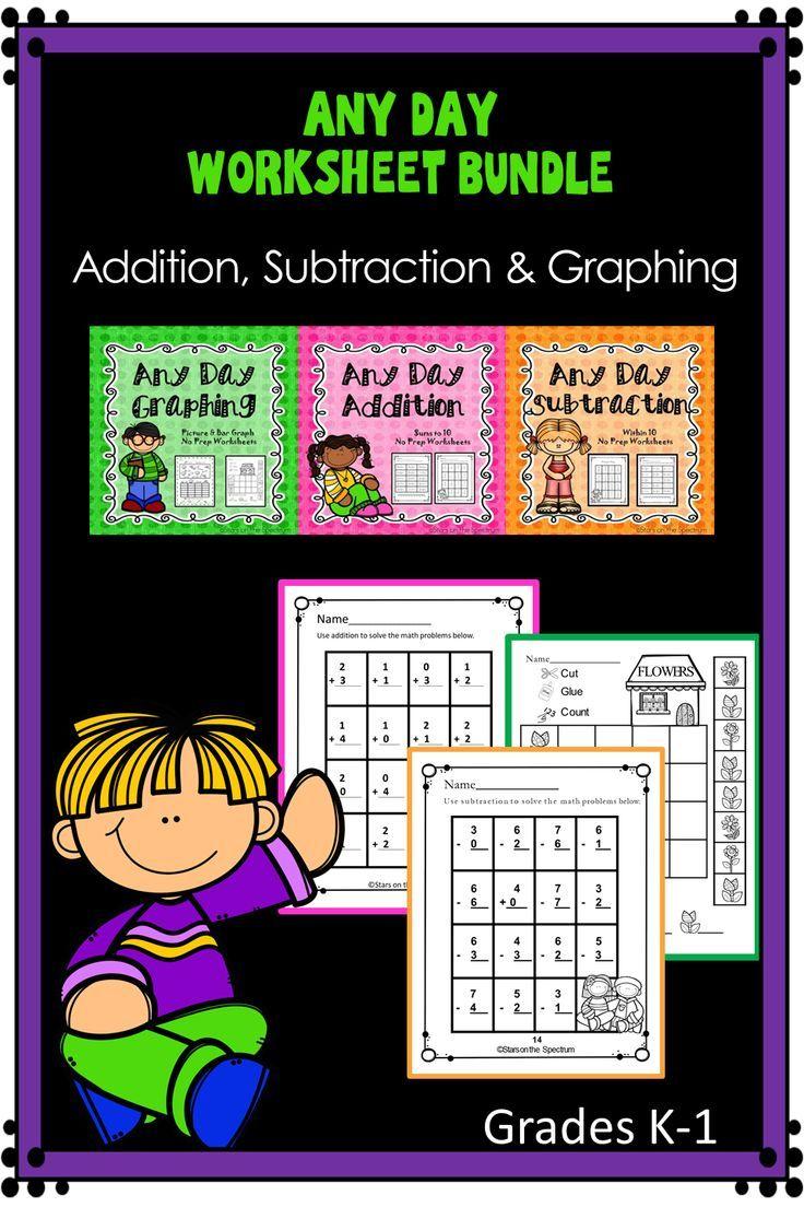 Math Worksheets Bundle Addition Subtraction And Graphing Math Worksheets Math Addition And Subtraction [ 1104 x 736 Pixel ]