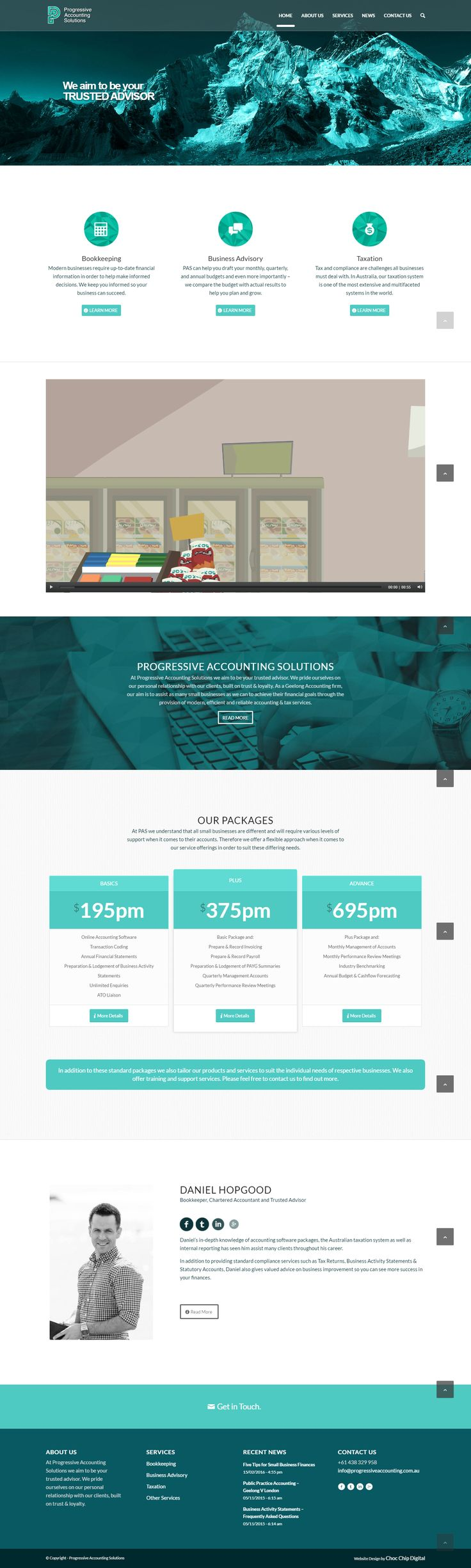 A contemporary, high tech accounting firm needed a website to match.  Progressive Accounting Solutions is young, nimble, accounting and book keeping firm that needed to launch a new website with a contemporary image to match the cloud accounting and modern techniques that they offer. A strong visual brand and active social media promotion provide the foundation for ongoing success.