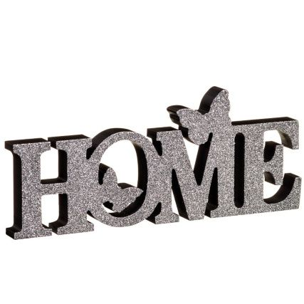 Home Butterflies Word Block - Grey. Add some sparkle to your home with these word blocks. Great for accessorising rooms. Available in 2 different designs
