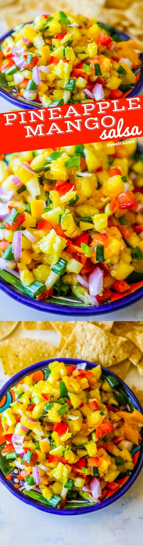 Spicy Pineapple Mango Salsa - Whole Foods Knockoff - Sweet C's Designs(Whole 30 Recipes Seafood)