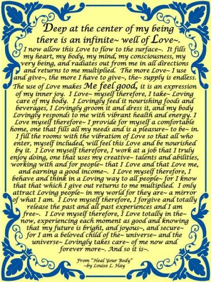 Louise Hay Daily Affirmations | Affirmations On Loving Yourself, By Louise L. Hay) : I Love Daily ...