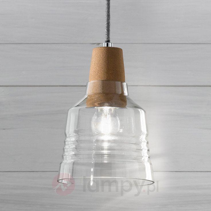 Syrna - lampa wisząca z zawieszeniem korkowym 3502503
