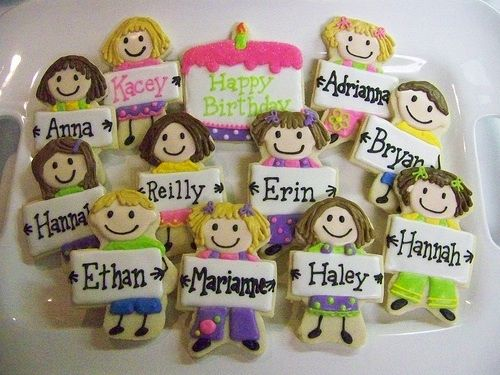 Love the idea of personalized cookies for kids birthday party