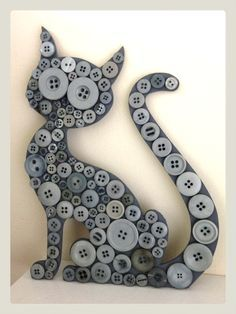 black cats in button art - Google Search