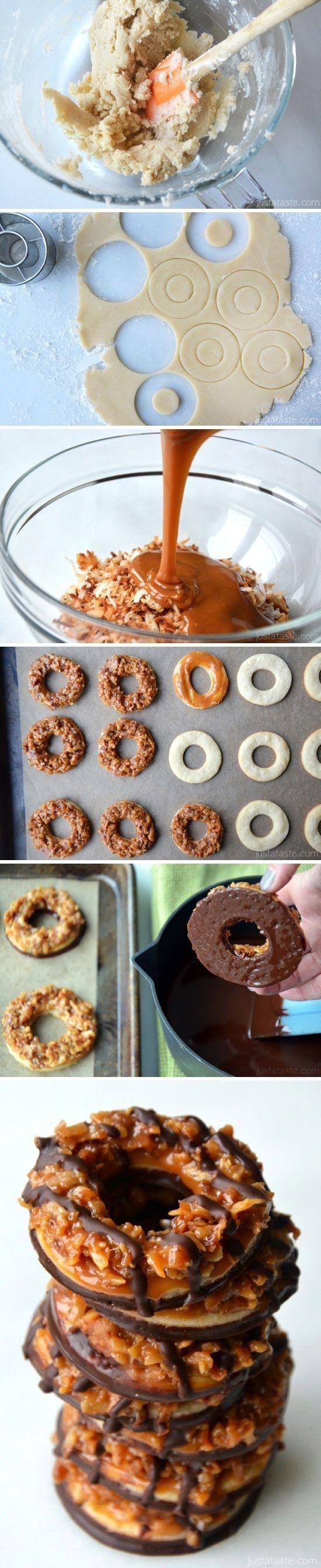 Homemade Samoas Girl Scout Cookies... #recipes #popular