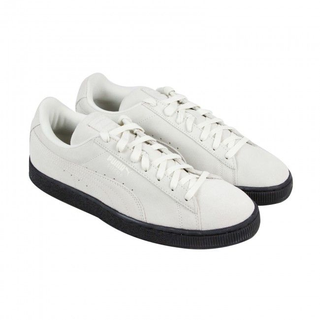 sports shoes cd31b 57064 Puma Suede Black Sole White Suede Lace Up Trainers Mens Puma ...