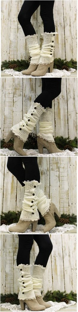 I love these double lace leg warmers! Perfect accessory for my Fall outfits and boots. FREE USA SHIPPING