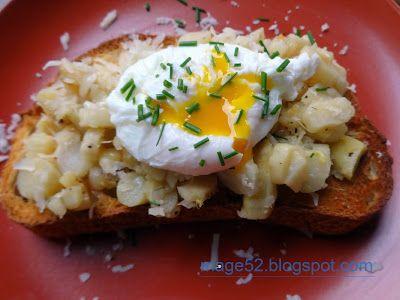 Ricette e Altro: bruschettona con asparagi e uovo in camicia