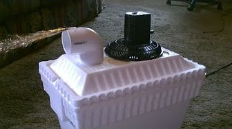 """Homemade Air Conditioner DIY - The """"5 Gallon Bucket"""" Air Cooler! DIY- can be solar powered! - YouTube"""