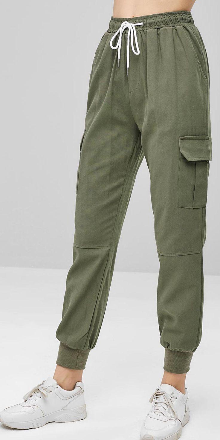 Casual Pants Women high waisted crop pants 14