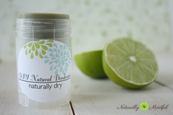 DIY Natural Deodorant. Naturally dry and with sensitive skin options
