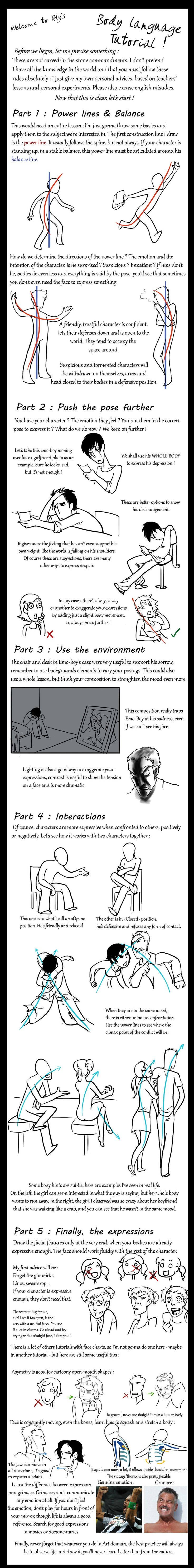 Body Language Tutorial by PolymorphicGirl.deviantart.com ✤ || CHARACTER DESIGN REFERENCES | キャラクターデザイン | çizgi film • Find more at https://www.facebook.com/CharacterDesignReferences & http://www.pinterest.com/characterdesigh if you're looking for: #line #of #action #animation #how #to #draw #drawing #tutorial #lesson #disegno #power #lines #sketch #strip #fumetto #anatomy #fumetti #line #art #cartoni #animati #comics #movement #tips #cartoon || ✤