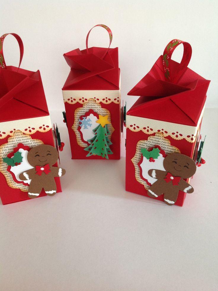 Cajitas navide as para tus amigos cajitas con dulces - Como hacer targetas de navidad ...