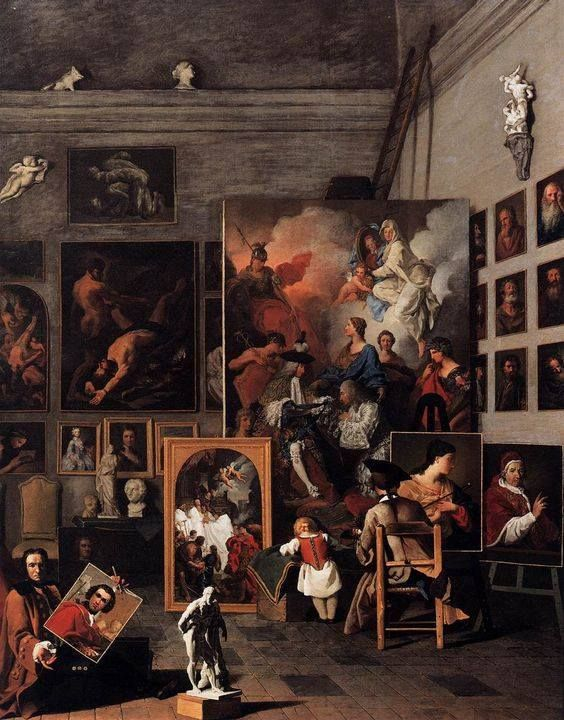 Pierre Subleyras (* 25. November 1699 in Saint-Gilles du Gard; † 28. Mai 1749 in Rom) / The Studio of the Painter / 1746 / Oil on canvas, 125 x 99 cm