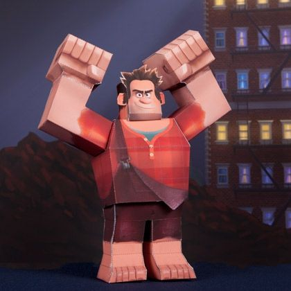 Wreck-It Ralph 3D Papercraft -- This would be pretty cool on top of your bookcase.