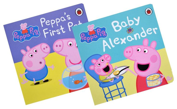 Peppa Pig First Experience Collection - First Pet / Baby Alexander (2 book set) [Boardbooks]