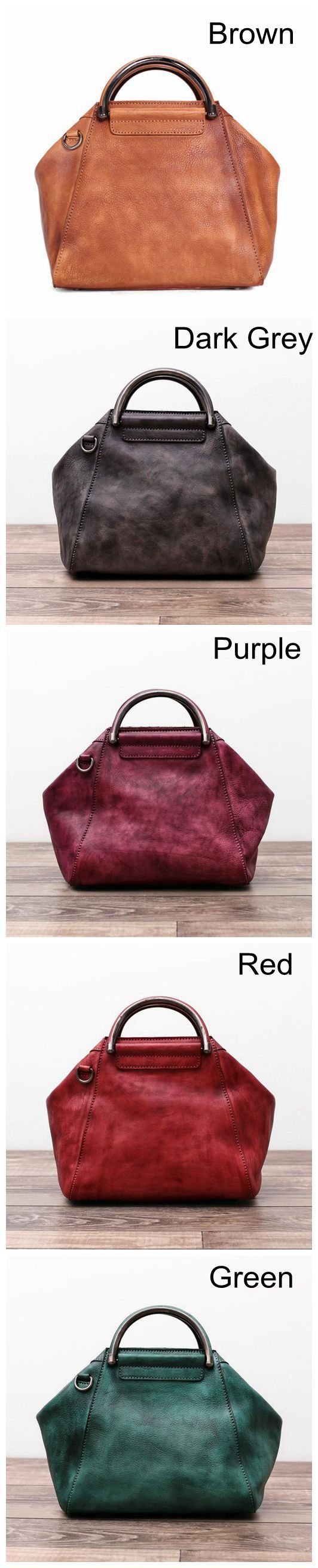 Handmade Full Grain Leather Women Handbag, Shoulder Bag, Leather Satchel WF52
