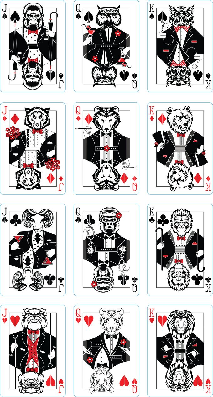 """Tuxedo"" Playing Cards by Natalia Silva — Kickstarter"
