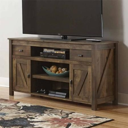 "Better Homes and Gardens Falls Creek TV Stand for TVs up to 60"", Century Barn Pine - Walmart.com"
