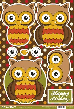 Buzzcraft Woodland Creatures Cut & Create - Oli Owl