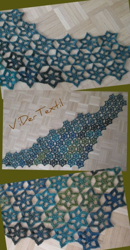 Hexagons - shawl - crochet charted