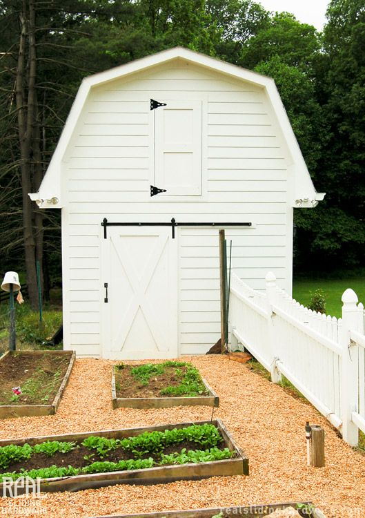 A sliding barn door with Classic Flat Track adds a special touch to the  garden shed 27 best Exterior Projects images on Pinterest   Barn door hardware  . Outdoor Sliding Barn Door Hardware. Home Design Ideas