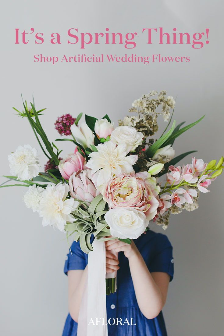 It S Your Wedding Make It Your Way Browse The Best Fake Flowers For Your Diy Weddi Silk Flowers Wedding Artificial Flowers Wedding Silk Flower Bridal Bouquet