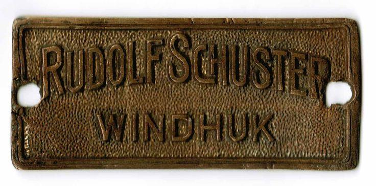 Deutsch Südwestafrika Firmenschild