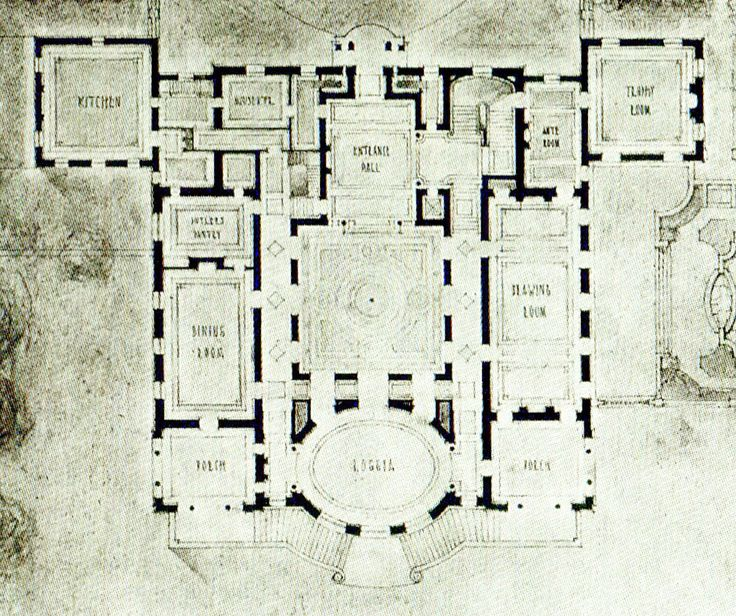 Farnsworth 1st floor floor plans castles palaces for Billings plan room