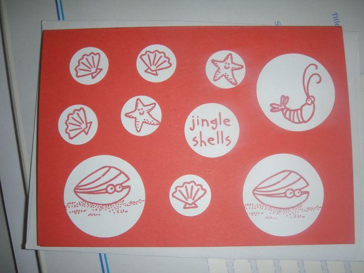 Jingle shells, starfish, shrimps,  Stampin Up