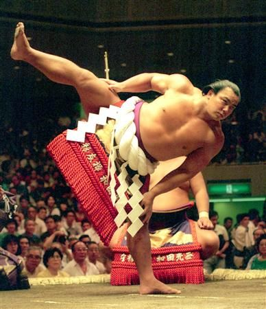 My personal favorite of all time. The great Chiyonofuji, Sumo wrestler