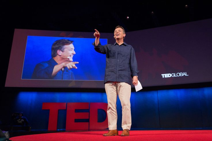 """In the book, """"Talk This Way! The Official TED Guide to Public Speaking,"""" our curator Chris Anderson will gives insights on what makes a talk great. Photo: James Duncan Davidson"""