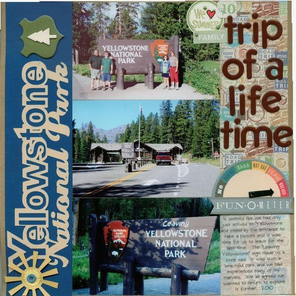 Image result for scrapbook layouts west yellowstone