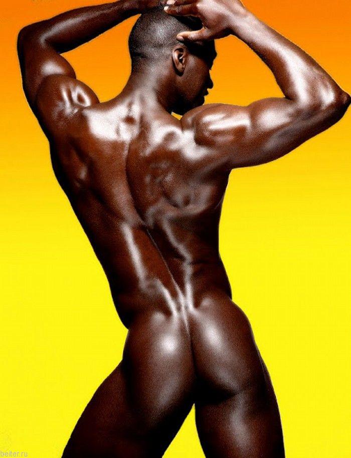 Naked dark black men