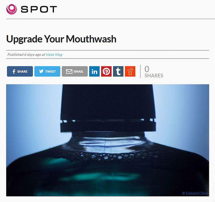 Dental mouthwash still life photo Edward Olive