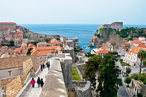 Dubrovnik City Walls - a little over a mile to walk the whole thing.