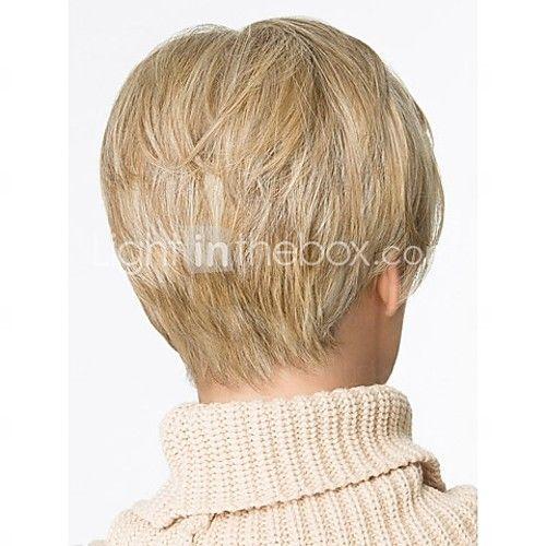 krátké rovné vlasy blondýnka paruky s ofinou přírodními paruky pro ženy 2017 - $26.69