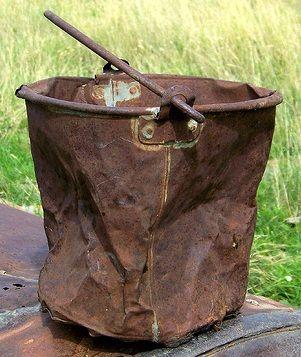 rusty bucket that has seen better days,,,,,